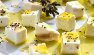 Ricotta Mustia marinée citron, marjolaine et miel d'arbousier