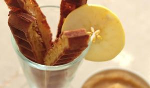 Gaufres au camembert et sa compote de pommes