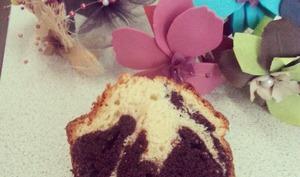 Cake marbré cacaoté