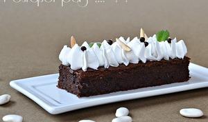 Brownies haricots Tarbais et chocolat