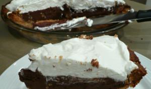 Tarte pouding au chocolat
