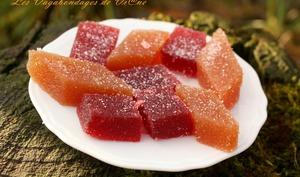 Pâtes de fruits à la fraise ou aux fruits de la passion