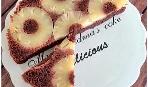 Gâteau de polenta chocolat ananas