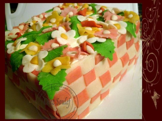 gâteau d'anniversaire a la pâte d'amande