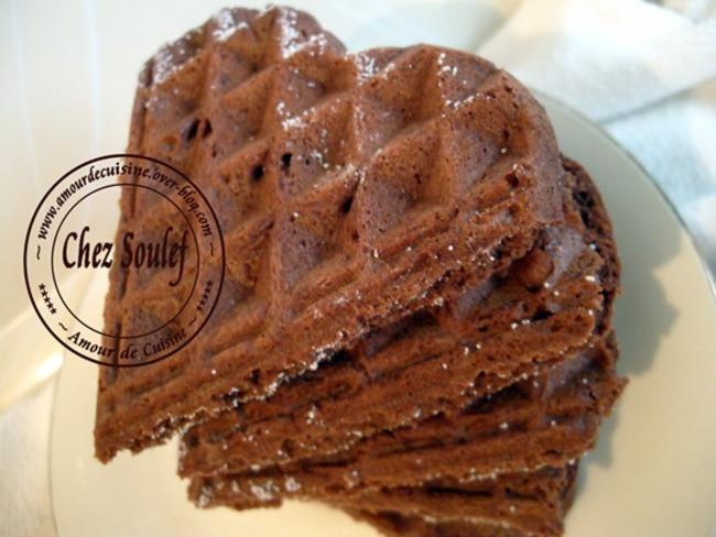 des gaufres au cacao