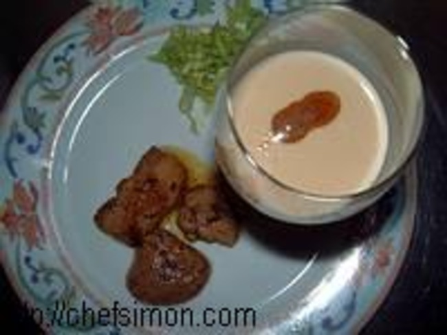 Capuccino de foie gras
