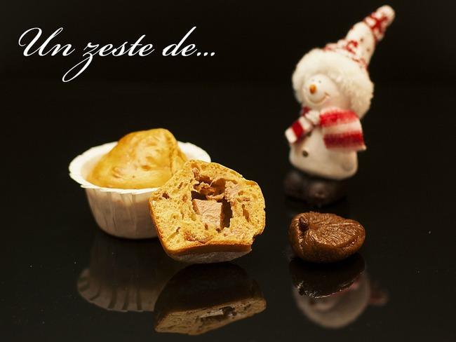 Muffin aux figues et cœur de foie gras
