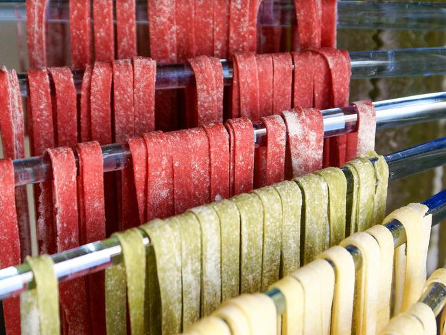 Pâtes fraîches colorées