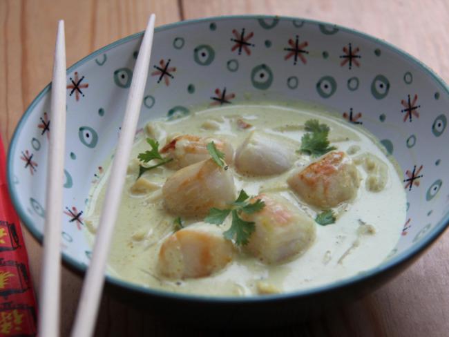 Curry de saint jacques au lait de coco