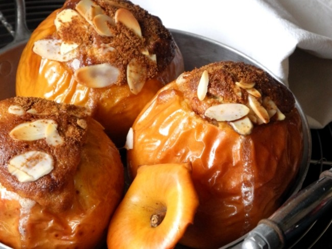 Pommes frangipanes au four