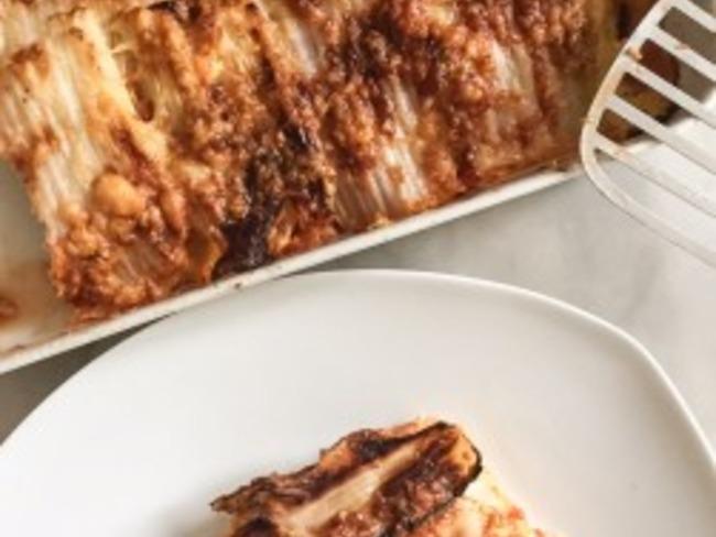 Lasagnes de chou végétariennes