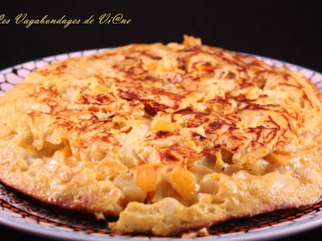 Omelette au poivron jaune et cheddar