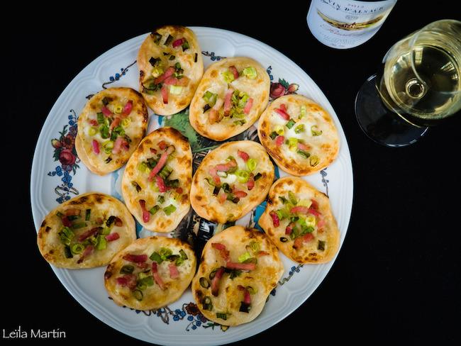 Mini-pizzas façon flammekueche