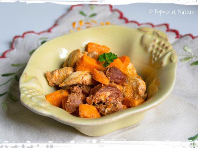 Fricassée de poulet au paprika fumé et au chorizo