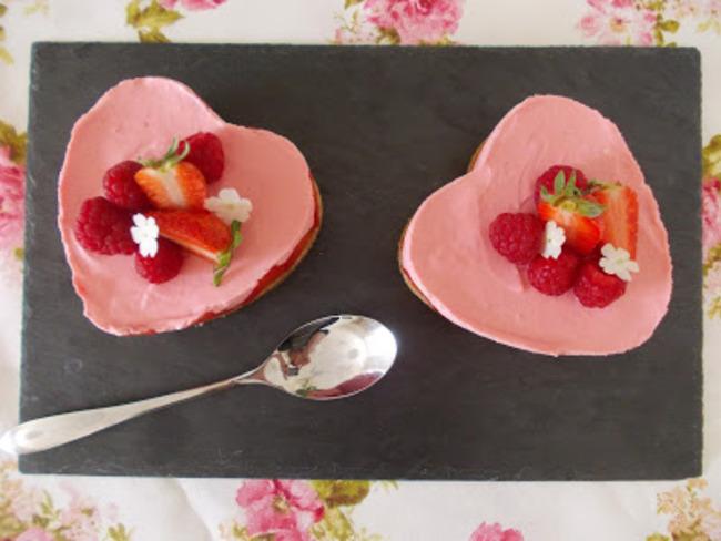 Cheesecake sans cuisson à la fraise