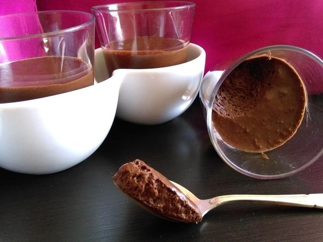 Mousse au chocolat au jus d'haricots rouges