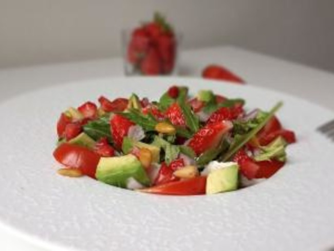 Salade roquette et fraises