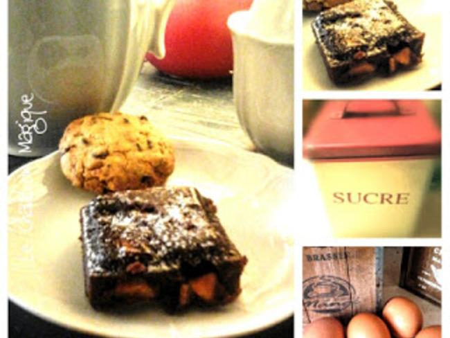 Brownies au amandes caramélisées