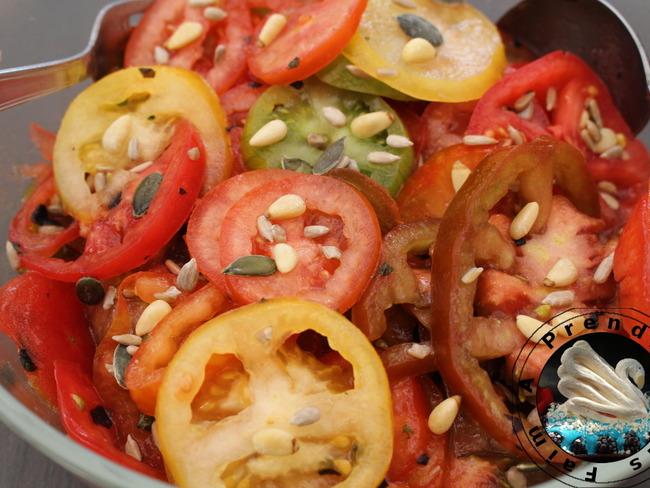 Salade de tomates aux graines