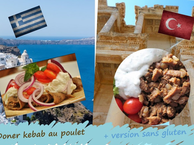 Doner kebab au poulet sauce yaourt