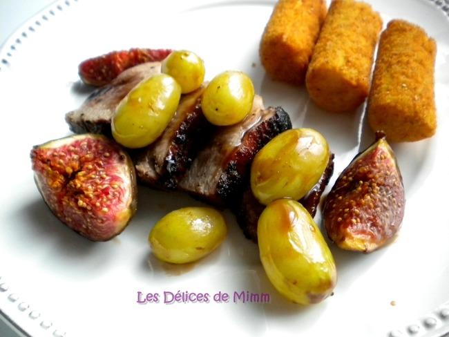 Filets de canard au miel, mi-figue et mi-raisin