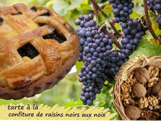 """Tarte """"linz"""" aux raisins et noix"""