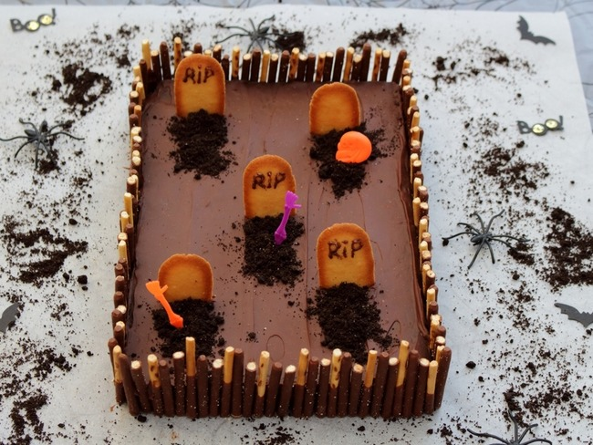 Gateau Cimetiere Une Recette Facie Pour Halloween Recette Par Amandine Cooking