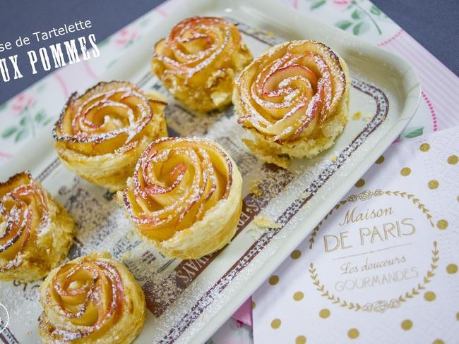 Roses de Tartelettes aux pommes