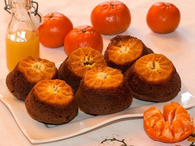 Muffins mandarine-chocolat en tatin
