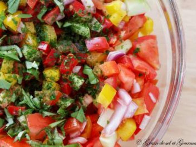 Salade froide d'été aux poivrons - Recette par Grain de ...