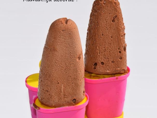 Esquimau à la mousse au chocolat glacée