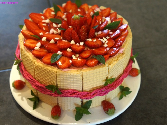Charlotte fraises et menthe chocolat