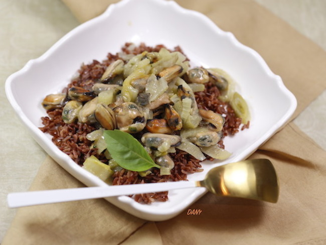 Fricassée de moules au fenouil et riz rouge de Camargue