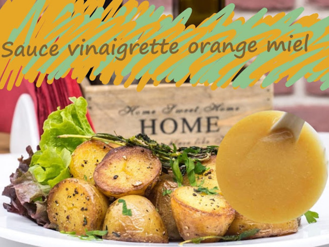Sauce vinaigrette à l'orange et au miel