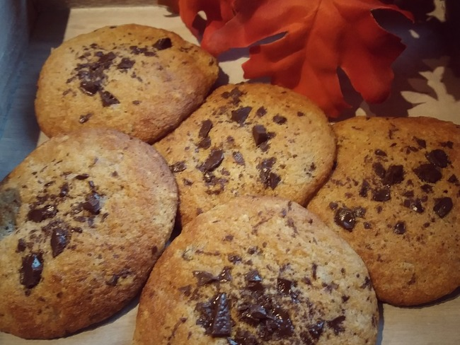 Cookies aux châtaignes et pépites de chocolat