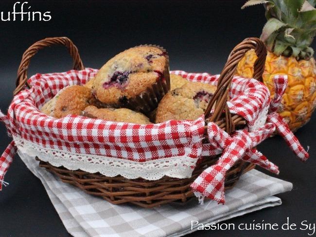Muffins fruits rouges ou pépites de chocolat