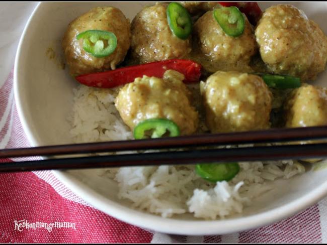 Boulettes de dinde thai curry coco