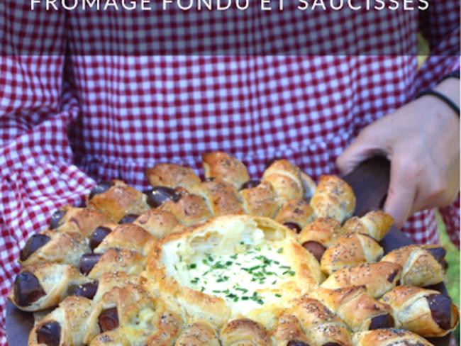 Soleil feuilleté camembert et saucisses