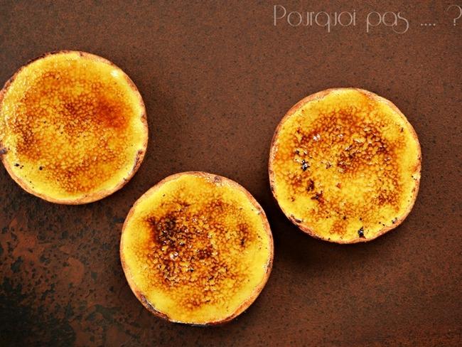 Tartelettes façon crème brûlée au thé et aux épices