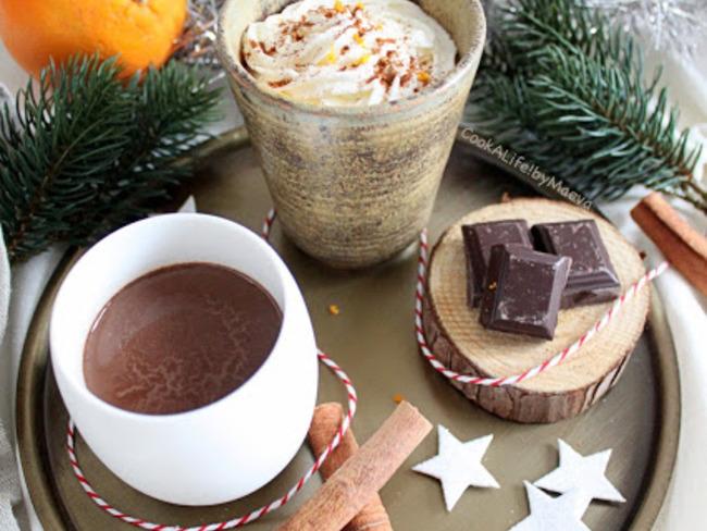 Chocolat chaud orange et épices