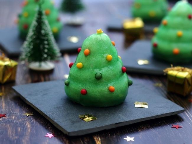 Entremets sapin de Noël