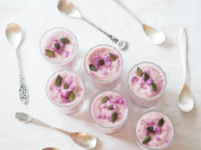 Verrines de chou-fleur violet