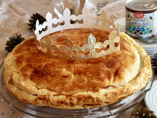 Galette des rois à la crème d'amande et crème de marrons