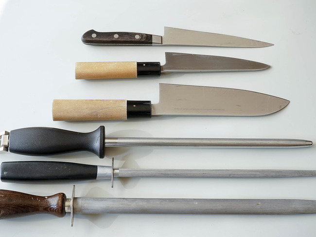 Affilage d'un couteau au fusil