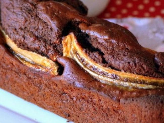 Cake banane chocolat moelleux, banana bread