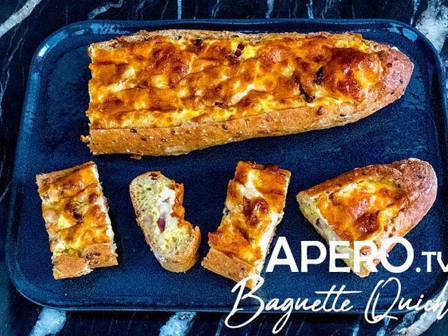Baguette quiche