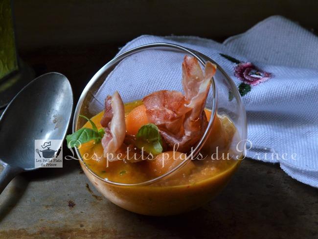 Gaspacho melon tomates façon basque