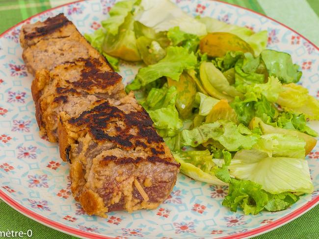 Brochettes de bœuf, sauce arachide