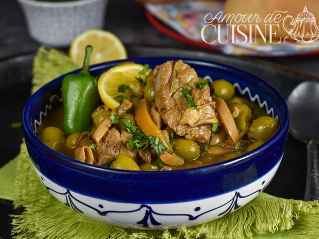 Tajine d'agneau aux olives