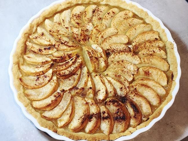 Tarte aux pommes sans oeuf